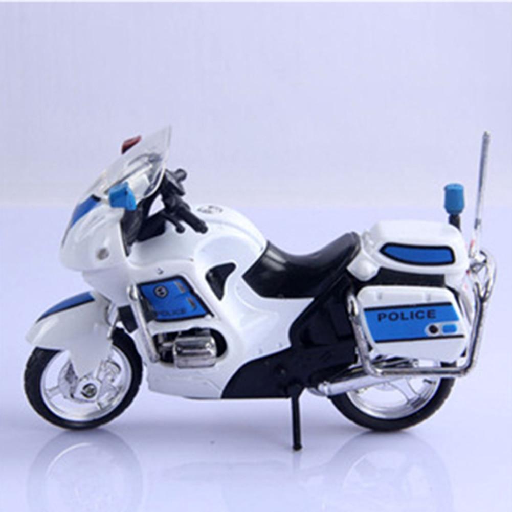1 Set Assembly Alloy Police Motorcycle Model Toy Diy Building Blocks