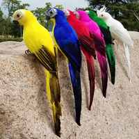 25cm Lifelike Parrot Artificial Ornament For Home Garden Yard Lawn Art Christmas Wedding Ceremony Decoration