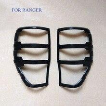 Подходит для Ford Ranger аксессуары ABS Матовый черный хвост света крышки отделкой для T6 T7 XLT 2012-2017 Тюнинг автомобилей сзади крышка лампы