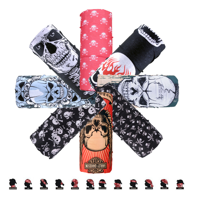 C.gree New Popular Magic Bandana Multifunctional Seamless Skull Bandanas Tube Scarf Outdoor Headwear Headband Neck Face Mask Apparel Accessories
