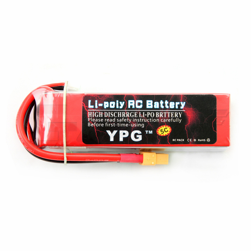YPG 11.1V 2600mAH 35C 3S Lipo Li-Po Lipoly(Support 5C charge) Battery For RC Trex Helicopter & Airplane & Car ypg 5200mah 14 8v 40c 4s lipo li po lipoly battery for rc helicopter
