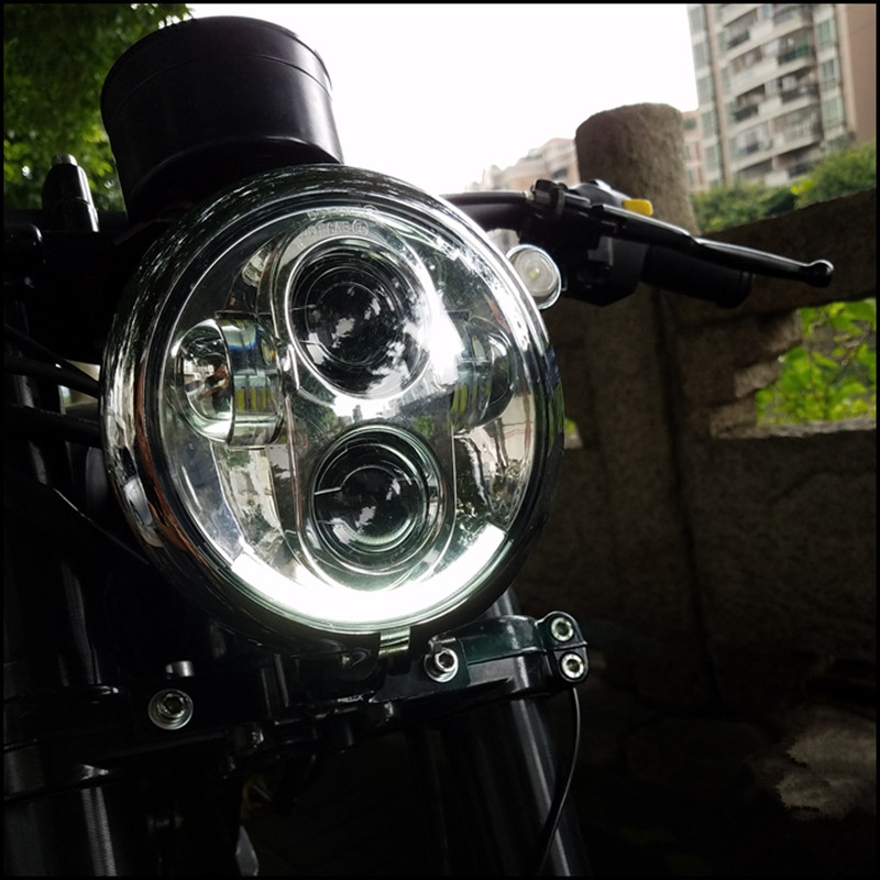 5.75 inch Motorcycle Headlamp Universal boober chopper Vintage Motorbike Front light Far light custom LED headlight