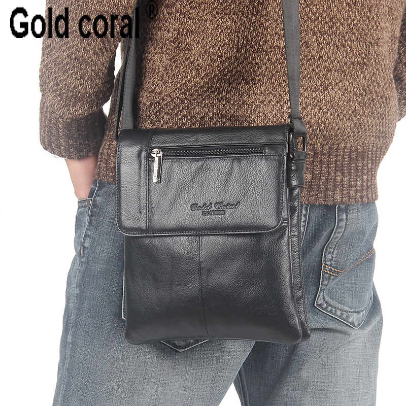 ФОТО 100% guarantee genuine leather business messenger bags for men high quality travel male shoulder bags crossbody pack 2015