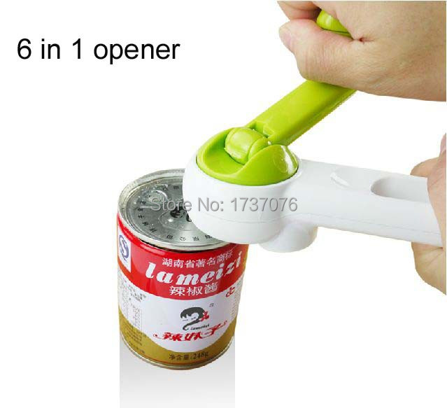 one touch can opener kitchen cando 6 in 1 new as seen on tv bottle opener kitchen tool in. Black Bedroom Furniture Sets. Home Design Ideas