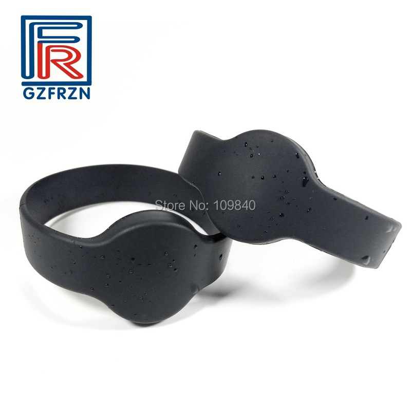 1pcs Gym Fitness NFC Rfid Wristband Silicone Bracelet With F08 Chip ISO14443A 65mm Dia Watch Type Cards