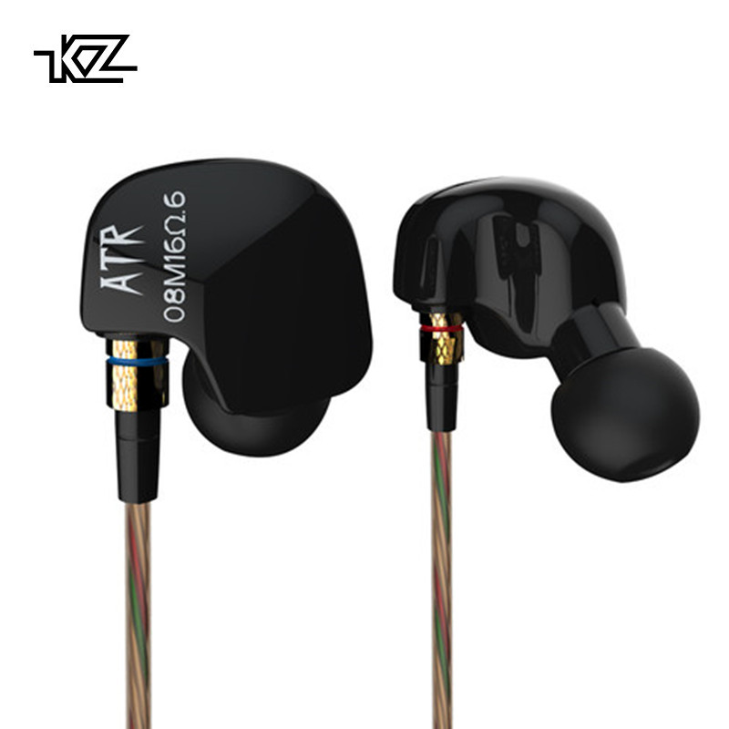 KZ ATR In-Ear Headphones Discount Computer Phones Universal Ear Hook Headset Controls Bass Sports Music Earplugs Earphones 2Pcs iskas headphones bluetooth subwoofer ear phones bass original music technology best new free tecnologia eletronica phone good