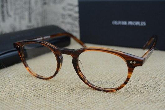 41c7a412bbe Famous Brand Oliver Peoples Riley-K Vintage Myopia Glasses frame Men and  Women Retro elegant Eyeglasses Fashion Eye Glasses