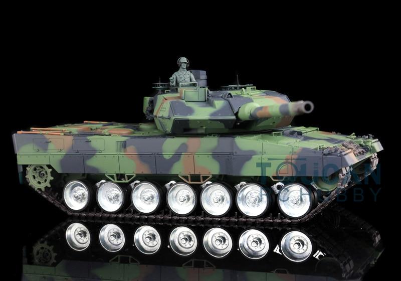 Henglong 1/16 German Leopard2A6 RC Tank Metal Road Wheel 360 Degree Turrets 3889