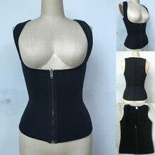 Neoprene Zip Suor Shapewear Empurrar Para Cima Colete Trainer Cintura Cincher Controle Tummy Cinturão Body Shaper do Espartilho S-3XL plus size