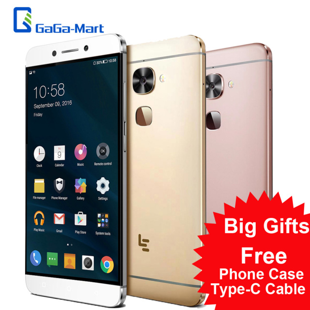 Letv LeEco Le 2 Pro X620 4G Mobile Phone eUI 5.6 MTK Helio X20 Deca Core 2.3GHz 4GB+32GB 21.0MP Fingerprint 5.5inch Smartphone