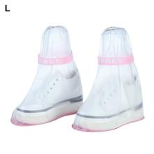 Children PVC Adult Waterproof Rainboots Thicken Outdoor Overshoes Non-Slip Shoe Cover Reusable