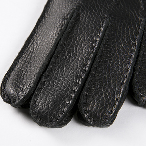 Image 5 - Gours Winter Men Genuine Leather Gloves New Fashion Brand Deerskin Mittens Black Plus Velvet Warm Fashion Driving GSM025