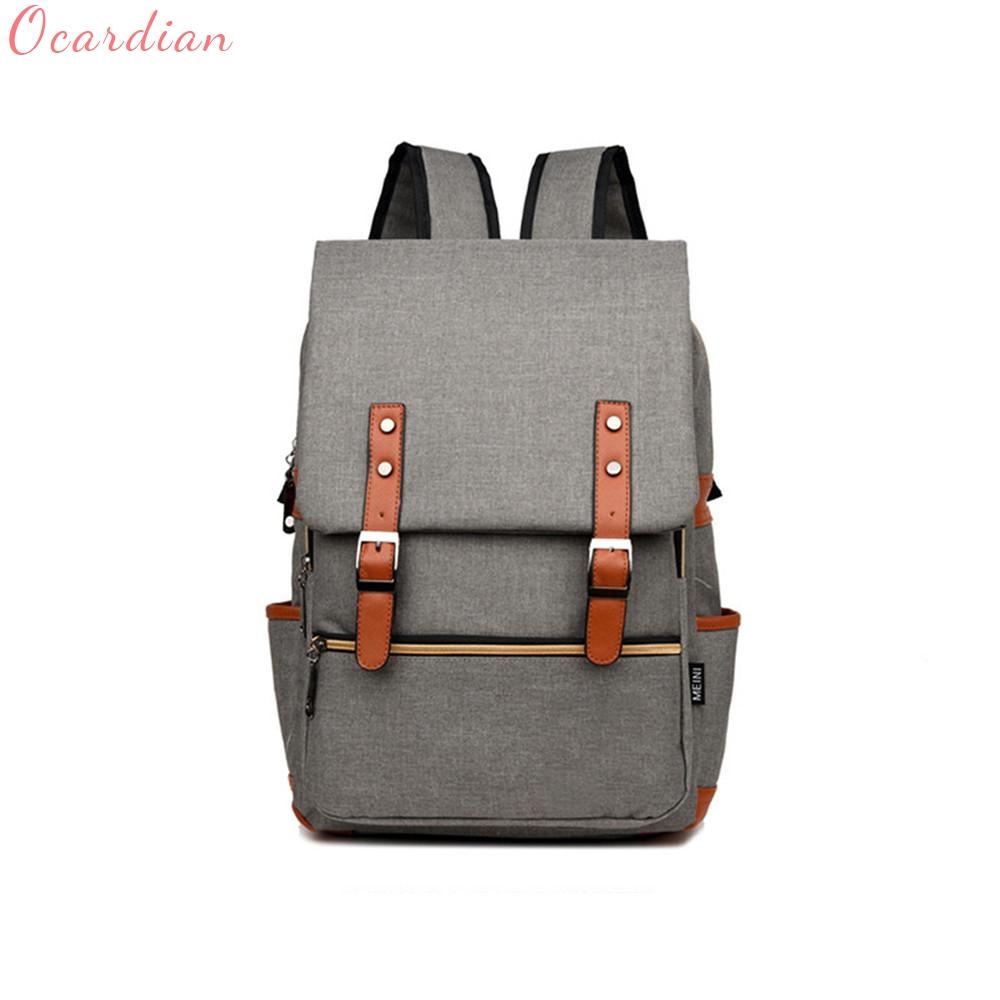 Fashion Men Bag Canvas Backpack Women Oxford Travel Bags Retro Backpacks Teenager School Bag Women SEP4 13 laptop backpack bag school travel national style waterproof canvas computer backpacks bags unique 13 15 women retro bags