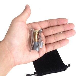 Image 5 - 3000W Portatile Mini palnik kempingowy kuchenka gazowa odkryty przenośny składany piec przetrwania piec kieszonkowy piknik gaz do gotowania kuchenka
