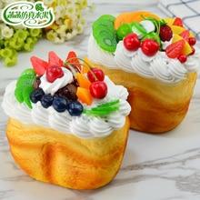Large fruit cream cake food fruit dessert fake bread model of wedding accessories 15*10*16cm