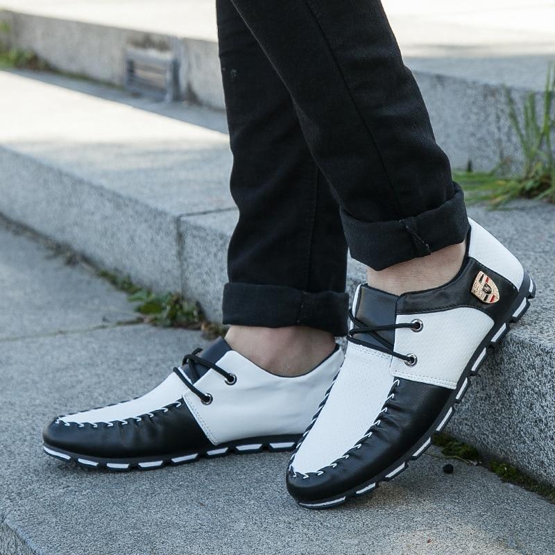 HTB1WJ0lShnaK1RjSZFBq6AW7VXaG Sports driving shoes men's flat non-slip casual shoes Italian flat shoes 2019 Korean version of men's pea soft shoes