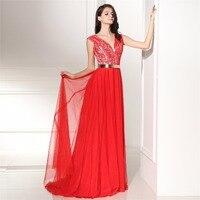 Backlacegirl Dài Evening Dress ALine V Cổ Tay Đính Cườm Ren Vải Tuyn Phụ Nữ Thanh Lịch Formal Prom Evening Gown Robe De Soiree