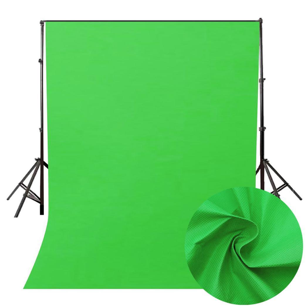 Green Color Cotton Non-pollutant Textile Muslin Photo Backgrounds Studio Photography Screen Chromakey Backdrop Cloth