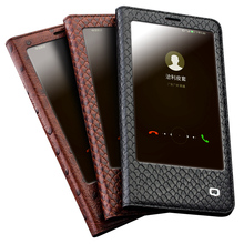 QIALINO עור אמיתי יוקרה Ultrathin Case עבור Huawei honor v9 Flip פונקצית שרות שינה כיסוי עבור Huawei Honor V9 ידני תיק