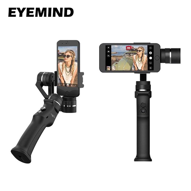 EYEMIND 3-Eixo Cardan Handheld Estabilizador de Smartphones originais VS Zhiyun Suave 4/Q Modelo para o iphone X 8 além de 7 8 Câmeras Android