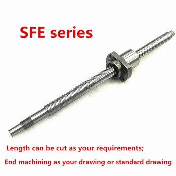 1pc High lead Ballscrew Dia:25mm Lead:25mm  C7 Rolled Ballscrew SFE2525 -1600 1700mm +single ballnut with BK/BF20 end processing