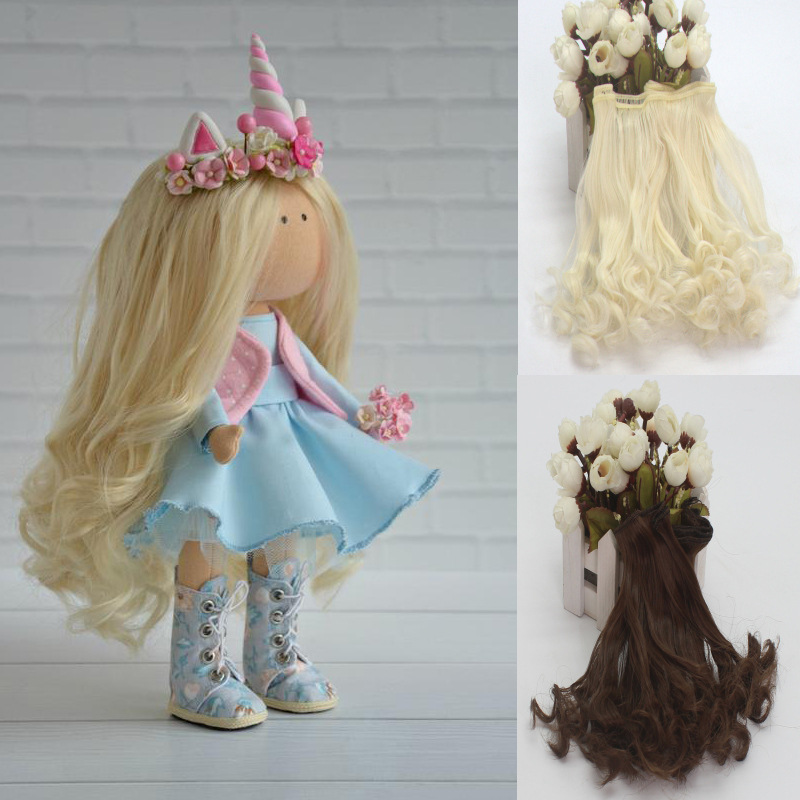 15cm DIY Mini Tresses Doll Wig Material Straight Hair Wig For BJD High-Temperature Doll Accessories(China)