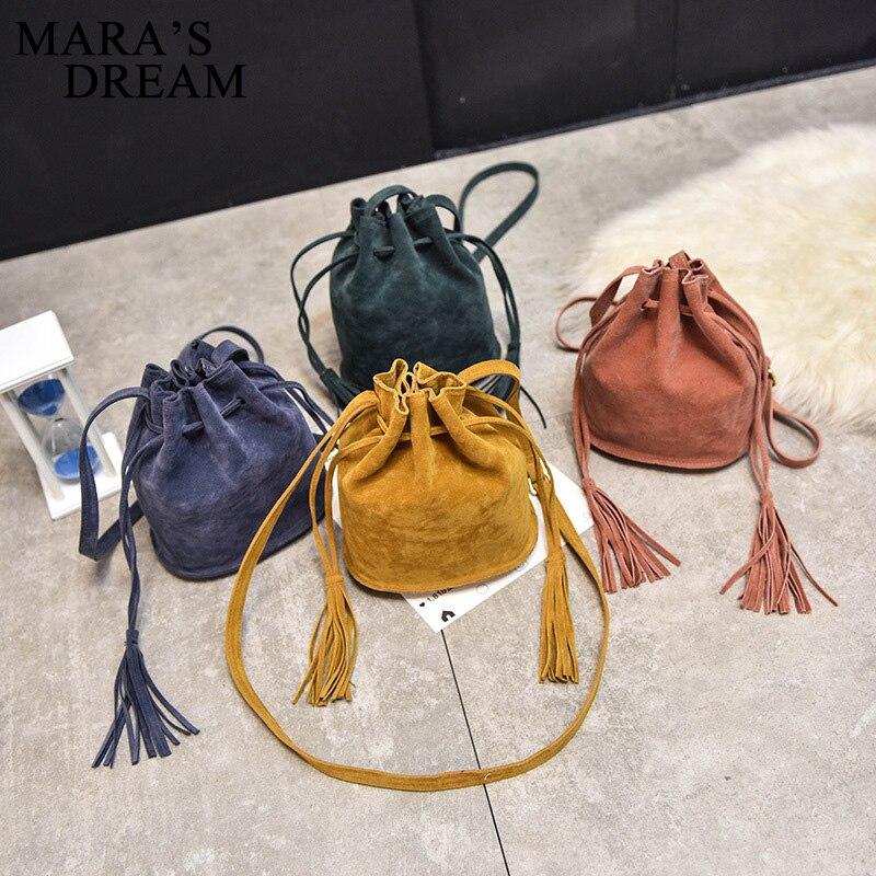 Mara Traum designer-handtaschen hohe qualität Frauen Tasche Messenger Bags Neue Handtasche Quaste Eimer Schulter Handtaschen Crossbody 2017