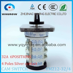Image 3 - Rotary switch YMZ12 32/4 electrical Combination Changeover cam switch 32A 4 pole 0 6 position sliver contacts high voltage
