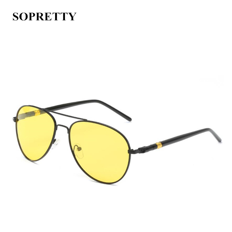SOPRETTY Classic Men Polarized Sunglasses High Quality Driving Pilot Night Vision Goggles Male Eyewear N165