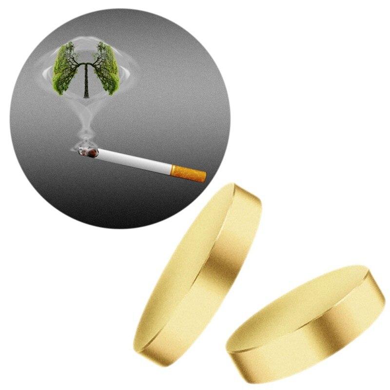 2 unids/lote imán Auricular para dejar de fumar parche no cigarrillos terapia de salud cuidado de la salud Pulsera de cobre puro Vinterly para hombre, cadena de mano, pulsera magnética, pulsera de cobre y energía para hombres, 2018