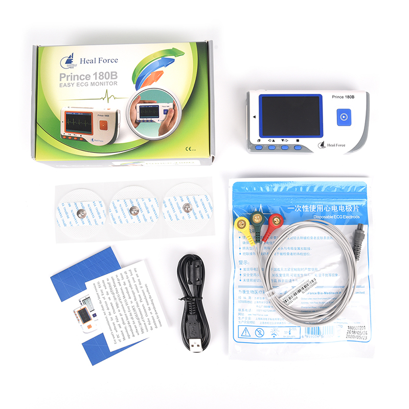 Heart Monitor High Quality Heal Force PC-80A Bluetooth Portable Household CE & FDA Approved abpm50 ce fda approved 24 hours patient monitor ambulatory automatic blood pressure nibp holter with usb cable