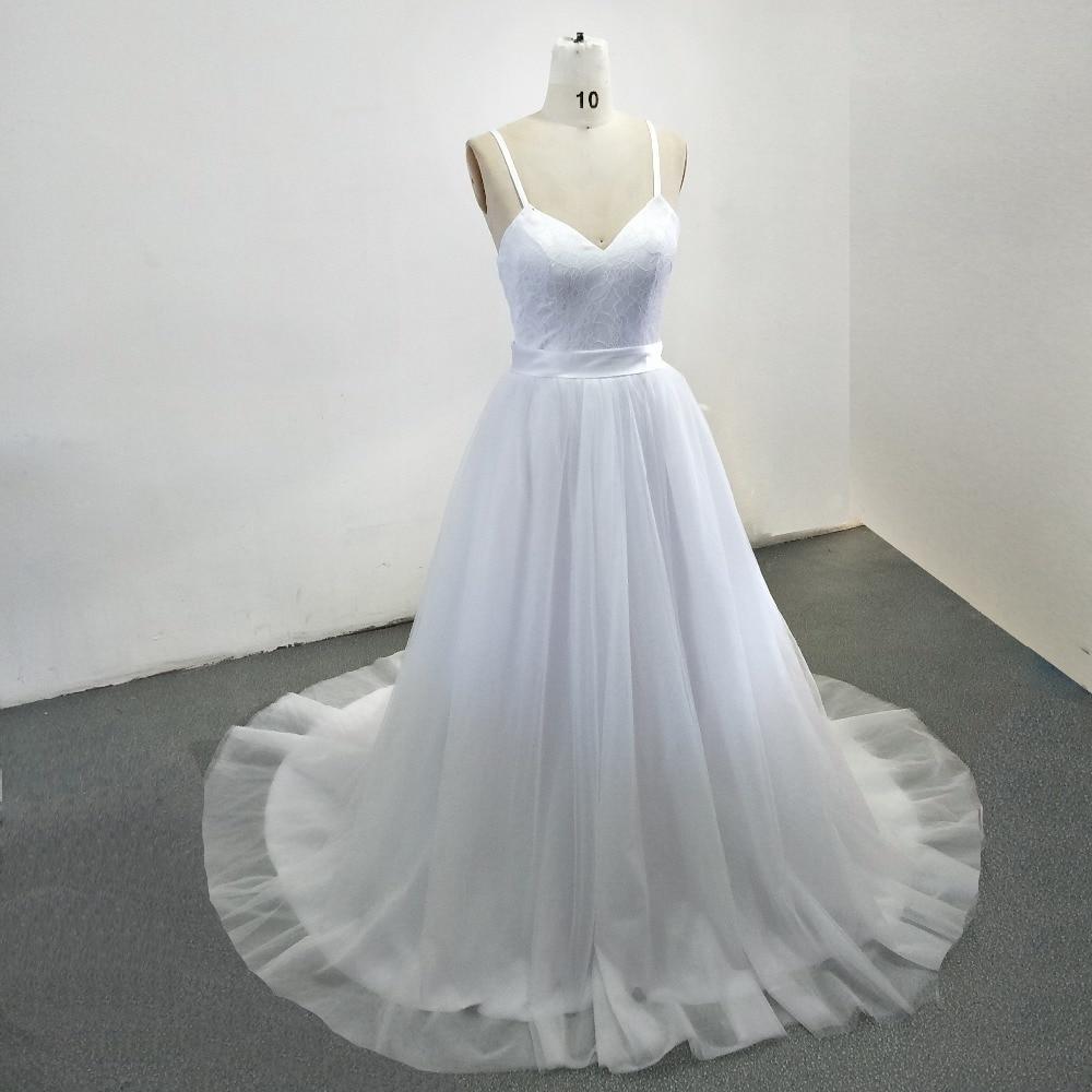 Vestido De Novia Spaghetti Straps Lace Cheap Wedding Dress 2018 A ...