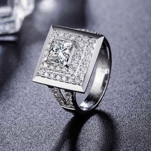 Finger Printed GIA Diamond Engagement Ring for Women 18K White Gold 1.01+0.69ct Natural GIA Diamond Princess Cut H/SI1