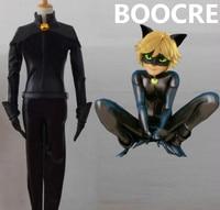 Anime Miraculous Ladybug Adrien Agreste Cat Noir Cosplay Costume Men Clothing Outfit Send Mask