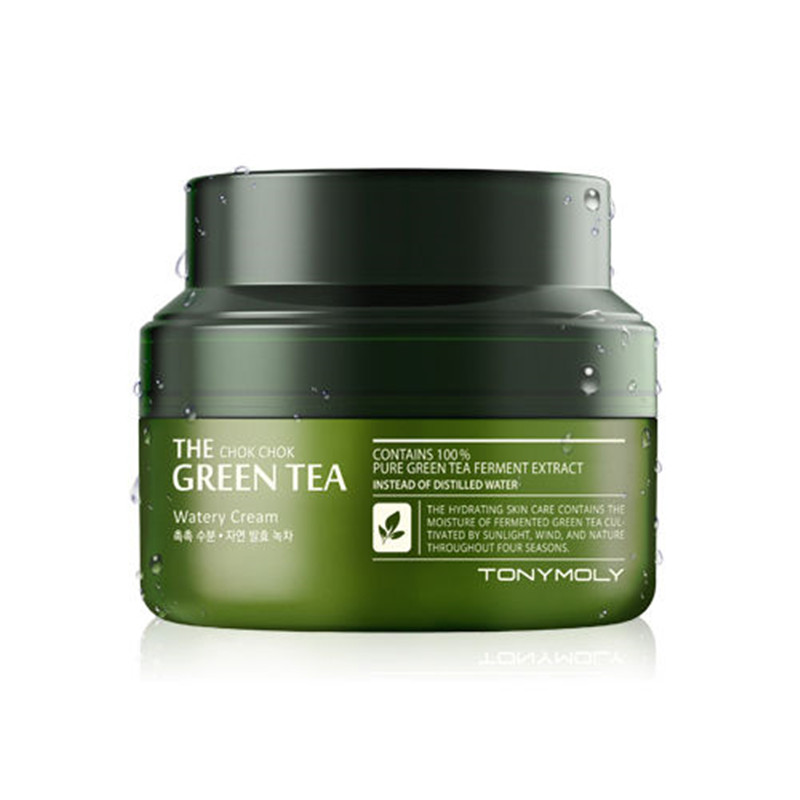 Original Korea The Chok Chok Green Tea Watery Cream 60ml For Moisturizing Skin Care Day cream маска it s skin green tea watery mask sheet 1 шт