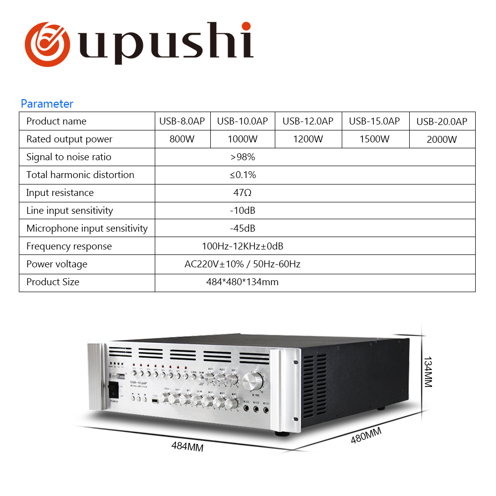 Big Power Amplifiers For PA System 800W-2000WBig Power Amplifiers For PA System 800W-2000W