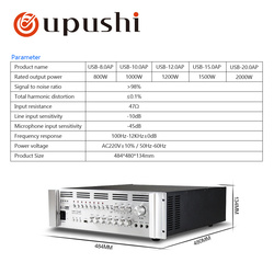 Big Power Amplifiers For PA System 800W-2000W