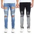 2016 Hombres Flacos de los pantalones Vaqueros de Diseño Delgado de La Manera Hiphop Biker Strech Denim Jeans Para Hombres E5063