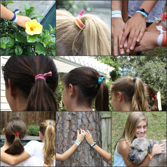 14 Pieces FOE Hair tie Top Quality Elastic Hair Bands Assorted ...