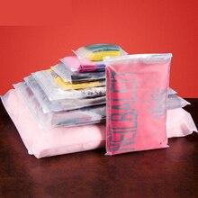 Купить с кэшбэком 10pcs/lot Matte Clear Plastic Storage Bag Zipper Seal Travel Bags Zip Lock Valve Slide Seal Packing Pouch For Cosmetic Clothing
