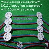 20 шт./компл. WS2811 адресуемых пиксель света; 0.72 Вт; DC12V вход; не водонепроницаемый