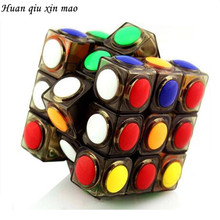 цены Brand New Transparent Magic Cube 3x3x3 Speed Puzzle Cube Game Dot Shape Cubos Magicos Profession Puzzle Game Toys Gift
