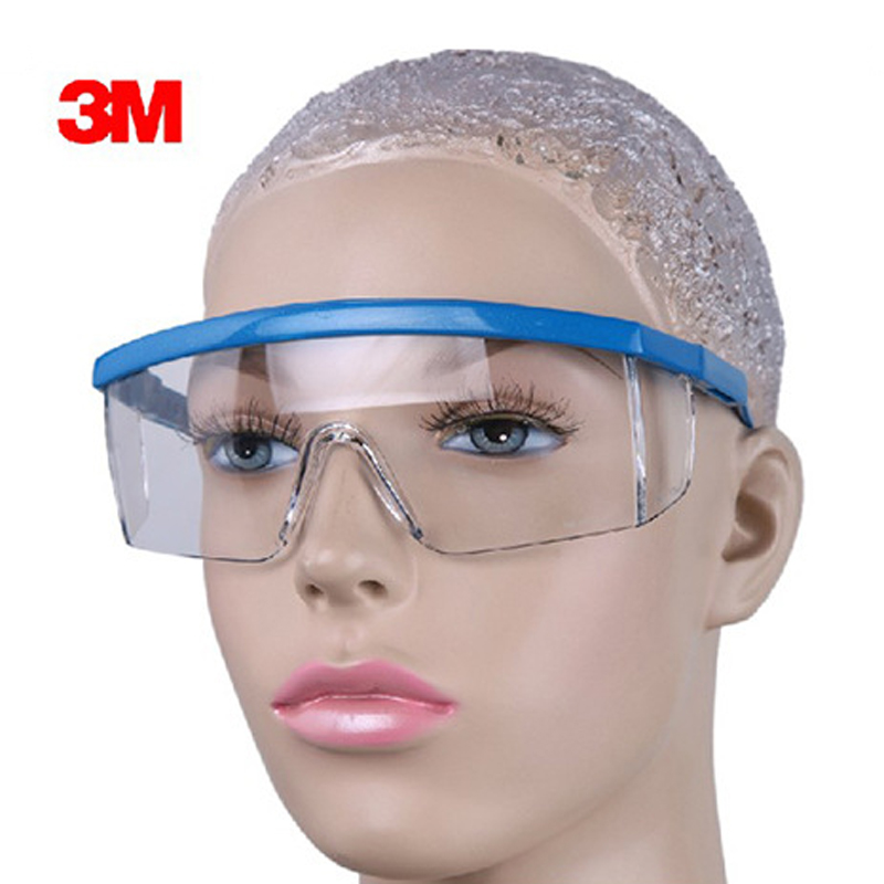 3M 1711 Safety Glasses Goggles Anti-wind Anti Sand AntiDust Resistant Transparent Glasses Work Labour Outdoor Protective Eyewear