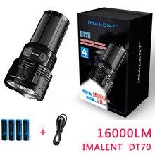 2017 Новый IMALENT DT70 CREE XHP70 16000 люмен 700 м зарядка через usb Интерфейс светодио дный фонарик по 4*18650 батареи