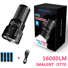 2017 NEW IMALENT DT70 CREE XHP70 16000 Lumens 700 Meters USB Charging Interface LED Flashlight by 4*18650 Batteries
