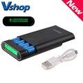 Banco de la energía diy shell caja de baterías con 4x18650 pantalla lcd 2 usb 5 v de salida para iphone (sin Batería)