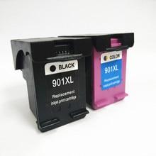 2Pcs 901 Ink Cartridge For HP 901xl Officejet 4500 Wireless J4580 J4550 J4540 J4680 J4524 J4535 J4585 J4624 J4660