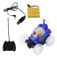 LED Flashing Light Rotating Music Mini RC Car Toys Electric Toy Cars Kids Gift