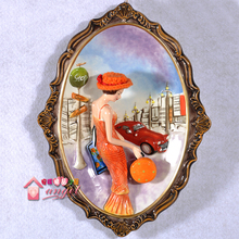 blankpaper ceramic orange lady girls wall dishes porcelain & Buy orange decorative plates and get free shipping on AliExpress.com