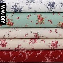 Flower blue, Japanese imports, cotton fabrics, apparel patchwork, handmade, fabric, 1/4 meter